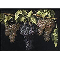 Oil Painting 'Fernandez El Labrador Juan Still Life With Four Bunches Of Grapes ' Printing On Polyster Canvas , 12 X 17 Inch / 30 X 43 Cm ,the Best Kids Room Decor And Home Gallery Art And Gifts Is This High Quality Art Decorative Prints On Canvas