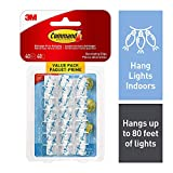 Command Decorating Clip Value Pack, Mini, Clear, 40 Clips 48 Mini Strips