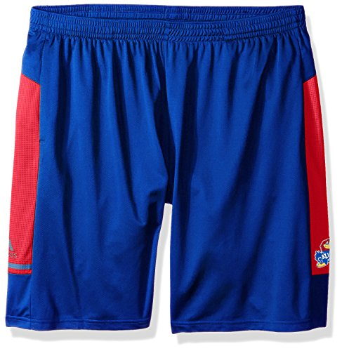 adidas NCAA Kansas Jayhawks Adult Men NCAA Sideline Shorts, X-Large, Collegiate Royal ()