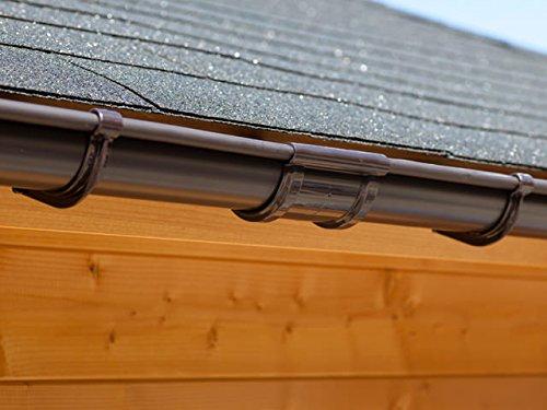 Top rafter bracket set for PVC /& zinc gutters for plastic guttering shed roof 1,5 mm