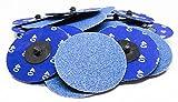 3'' Roloc Zirconia Quick Change Sanding Discs 40 Grit - 25 Pack