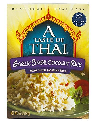 A Taste of Thai Garlic Basil Coconut Rice, 6.7 oz Box, 6 Piece