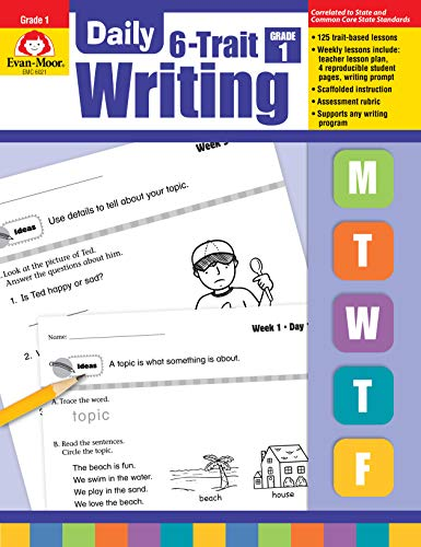 Evan-Moor Daily 6-Trait Writing, Grade 1 (Daily Practice Books) (Daily Math Practice Grade 1)