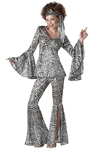 California Costumes Foxy Lady Set, Black/Silver, X-Large -
