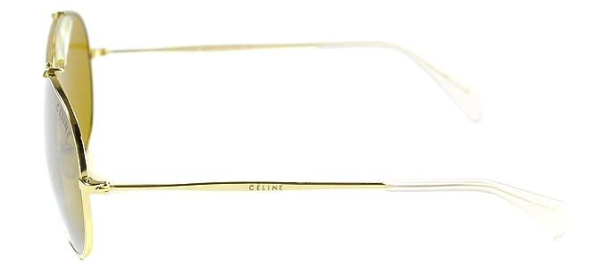 Amazon.com: Celine anteojos de sol polarizadas Oro Gris ...