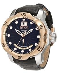Invicta Men's 1593 Reserve Retrograde Black Dial Black Leather Watch [Watch]