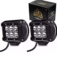 TURBO SII 2Pcs 4 Inch Led Work Light Led Cube Pods Driving Fog Light Spot Beam For Off-Road Suv 4X4 Jeep 4Wd Truck Military Mining Boating Farming and Heavy Equipment