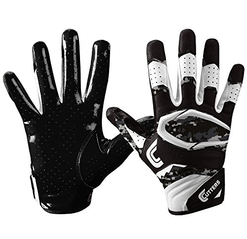 Cutters S451 Rev Pro 2.0 Receiver, Safety, Cornerback Football Gloves with Ultra Sticky C-Tack Grip Adult and Youth, Youth S, BLACK/CAMO (Vapor Gloves Football compare prices)