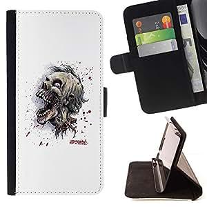 Momo Phone Case / Flip Funda de Cuero Case Cover - Cráneo Zombie Evil - Sony Xperia Z5 Compact Z5 Mini (Not for Normal Z5)