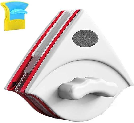 XXZG Limpiacristales Magnético, Limpiador De Ventanas Magnético Ajustable, Que Limpia Ventanas Ventanas Un Solo Acristalamiento Doble Acristalamiento (Blanco/Doble Capa 15-24mm): Amazon.es: Hogar