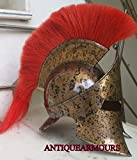 MEDIEVAL KNIGHT LEONIDAS SPARTAN KING 300 MOVIE MINI HELMET RED PLUME WITH STAND