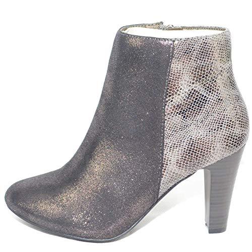 Argento E Largo Shoes Tronchetto Malu Con Tacco Monogramma Perlato EwUqY