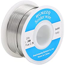 HGMZZQ 60/40 Tin Lead Solder Wire with Rosin for Electrical Soldering 0.039 inch(1.0mm-0.22lbs)
