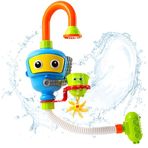Activity Tub - iPlay, iLearn Bath Toy, Bathtub Water Shower Fountain, Bathroom Play Game, Educational Developmental, Activities, Early Development Gift for Age 1, 2, 3 Year Olds Baby Kids Boy Girl Toddler Infant