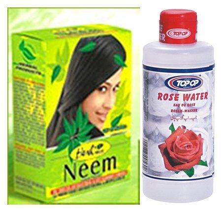Hesh-Herbal-Neem-Powder-100g-Top-op-Rose-Water-200ml-2-in-1-Anti-Bacterial-Fully-Complete-Skin-Care-Combo-Pack-by-Hesh