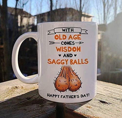 Funny Saggy Balls /'I Saw This Mug /& Thought Of You/' 11oz Mug FPD