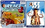 Ice Age DVD + Ice Age Collision Course Collectible Figures MANNY, DIEGO, SID & SCRAT 4-pack Animated Bundle Cartoon toy movie Set