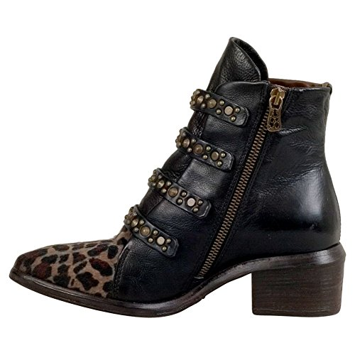 Leopard 98 S Ankle Frankie Black A Women's Boot 7Fpwqpx8