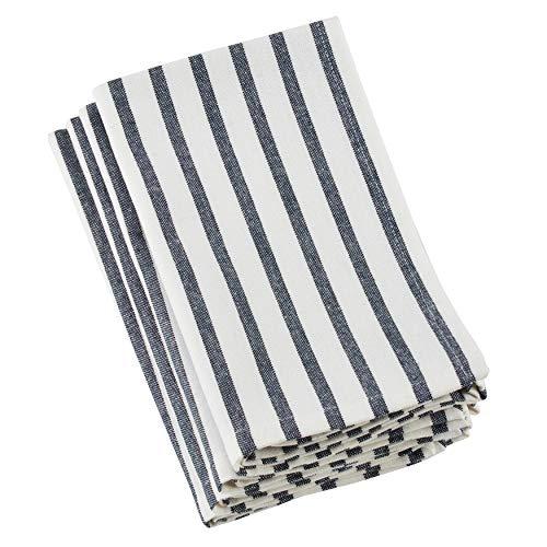 SARO LIFESTYLE 519.NB20S Multi Ligne Collection Striped Design Cotton Table Napkins (Set of 4) 20