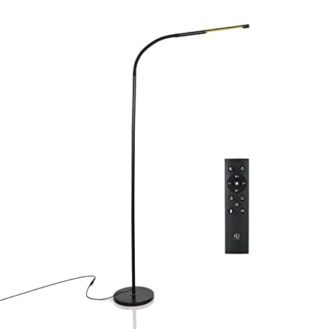 HaloOptronics - Rocket 1933 Pro - Lámpara de pie LED con control remoto 10W equivale a 100W - Toque la variación de brillo y color
