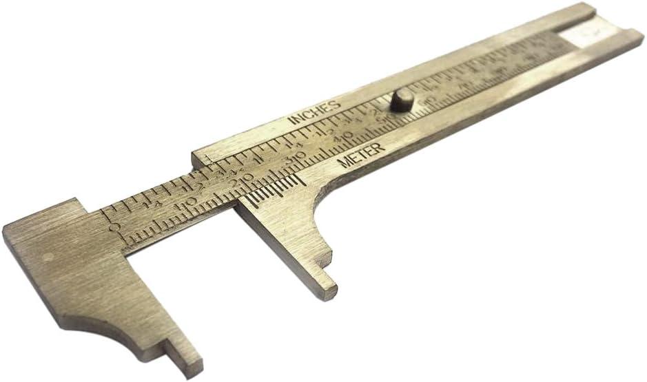 100mm Brass Caliper Sliding Vernier Ruler Gauge Tool for Bead Gem Stone Jeweller