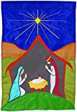Carson Large Flag Peaceful Nativity with Applique 29 x 42 For Sale