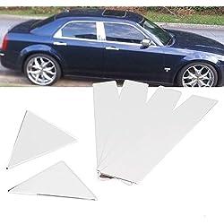 6Pcs Stainless Steel Chrome Door Pillar Post Trims For 2005-2010 Chrysler 300 300C / 2005-2008 Dodge Magnum