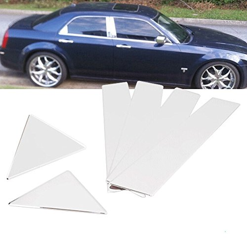 6Pcs New Stainless Steel Chrome Door Pillar Post Trims For Chrysler 300 300C 05 06 07 08 09 10 08 Chrome Door Pillars Posts
