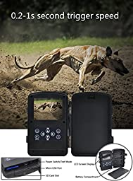 ZenNutt HD 1080P Wildlife Trail & Game Camera,12 MP Mini Waterproof Low Glow Infrared Night Vision Motion Activated Outdoor Hunting Cameras with 2.4\