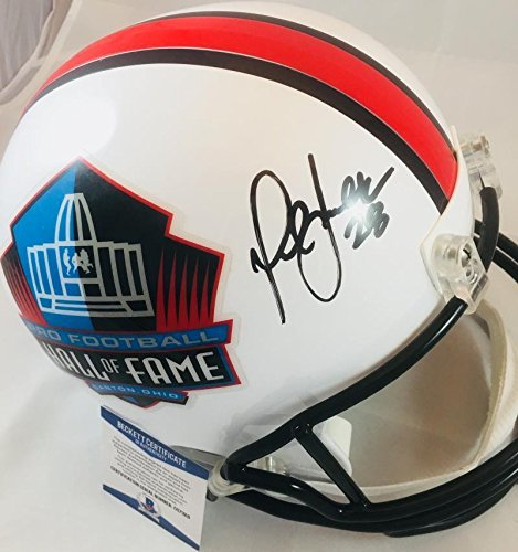 (Marshall Faulk Autographed Signed NFL Hall Of Fame Full Size Helmet St Louis Rams Signature - Beckett Authentic)