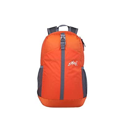 Lizichun Outdoor Folding Mountaineering Backpack, Wear-resistant Nylon Travel Package Sports Riding Rucksack, 20L Men And Women Apply Waterproof Breathable Knapsack, Student Bag (orange) new