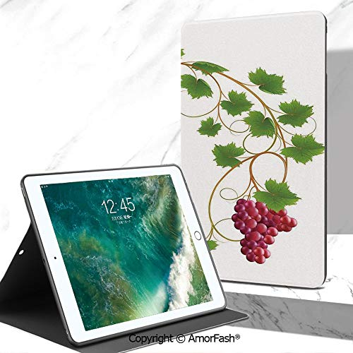 Grapes Home Decor Case for Galaxy Tab A Samsung Galaxy Tab A SM-T280 / T285 Tablet 2016 Release,Curved Ivy Branch Deciduous Woody Wines Seed Clusters Cabernet Kitchen