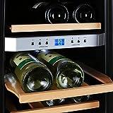 KLARSTEIN Reserva 12 Uno Wine Cellar • Cooler • 1.2 Cubic Feet • 4 Shelves • Double-Insulated Glass Door • LED Interior Lighting • Stainless Steel • Quiet Operation