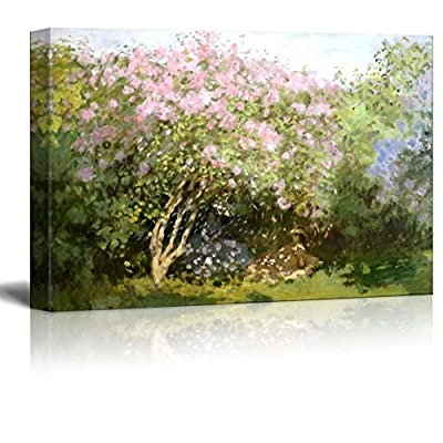 Lilacs in The Sun by Claude Monet - Canvas Print Wall Art Famous Oil Painting Reproduction - 12