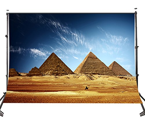 LYLYCTY 5X7 Egypt Backdrop Pyramids Backdrop Portrait Shooting Travel Photo Studio Vedio Props Wallpaper LY025 ()