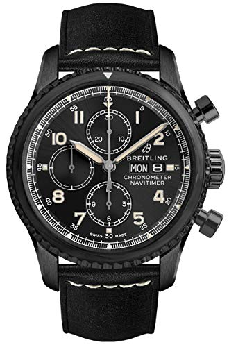 Breitling Navitimer 8 Chronograph 43 Black Steel Men's Watch (ref. M13314101B1X1) Breitling Black Wrist Watch