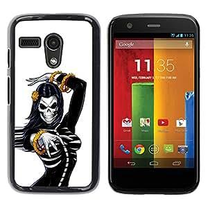 """For Motorola Moto G ( 1st Generation ) Case , Cráneo Sexy Mujer esquelética de mama"""" - Diseño Patrón Teléfono Caso Cubierta Case Bumper Duro Protección Case Cover Funda"""
