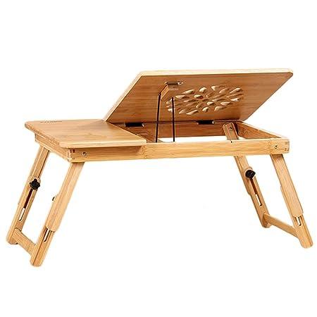HAIPENG Bandeja Cama Mesa Ordenador Portátil Escritorio Bambú ...