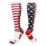 USA American Flag Stars and Stripes Over the Calf Socks
