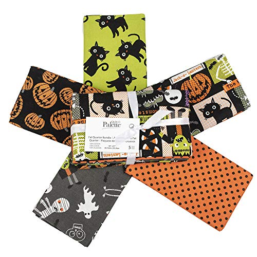 Fabric Editions Holiday Halloween Party Fat Quarter Bundle 5 Pcs - Edition Fat Pack