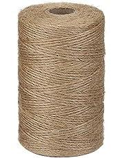 CYWVYNYT 200 m jute touw, bruin natuurlijk jute koord voor tuinafbeeldingen planten knutselen