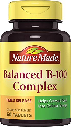 Nature Made Balanced B-100 Timed Release (Thiamin, Riboflavin, Niacin, B6, B12, Biotin, Pantothenic Acid & Folic Acid) Tablets 3 Pack