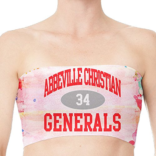 Abbeville Christian Academy Generals 34 Seamless Strapless Bandeau White (Pablo Table Lamp)