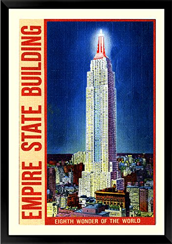 Empire State Building Poster Vintage Style 1930's New York -