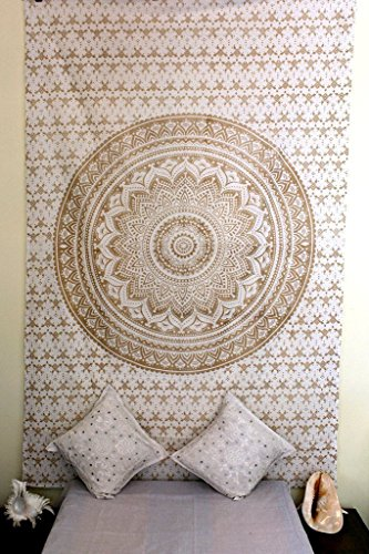 Americana Decor's Indian Gold Ombre Tapestry, Hippy Tapestry ,Twin decorative wall hanging