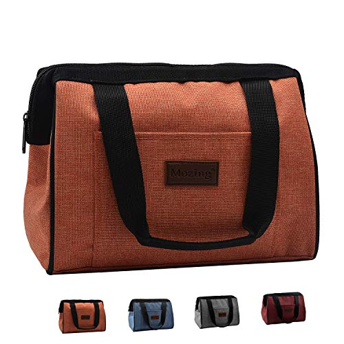 Mozing Cooler Bag Lunch Box Insulated Lunch Bag for Women Men Reusable Lunch Tote for Adults Kids Reusable Lunch Bags (Orange) (Orange Lunch)