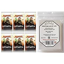 6 x Oath of the Gatewatch Booster Pack - English + 100 Docsmagic.de Card Game Sleeves - Magic: The Gathering by Magic The Gathering