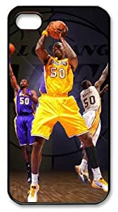 LZHCASE Personalized Protective Case for iPhone 4/4S - Theo Ratliff, NBA Los Angeles Lakers