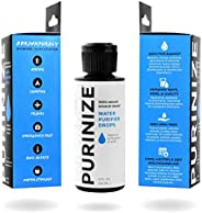 PURINIZE - The Best and Only Patented Natural Water Purifying Solution - Chemical Free Camping and Survival Wa
