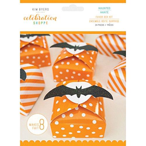 Celebration Shoppe Halloween Party Favor Box Kit - Haunted Theme Bats - 3 in x 3 -
